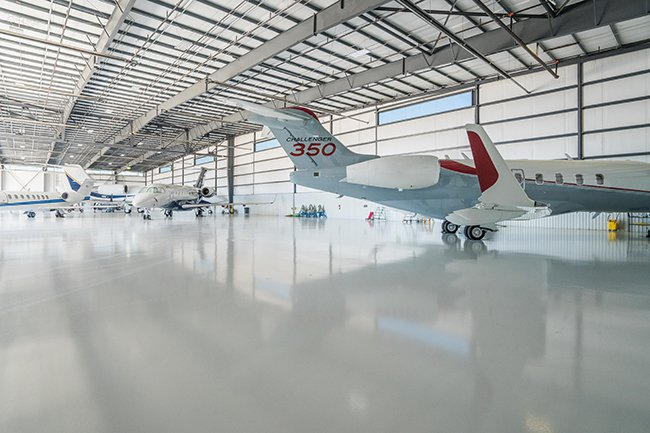 Hangar Floor in Houston, Texas
