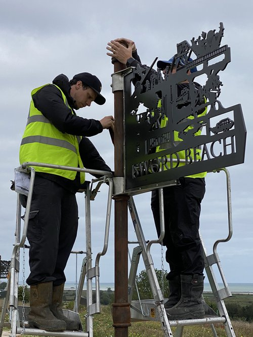 Waymarker Being Installed